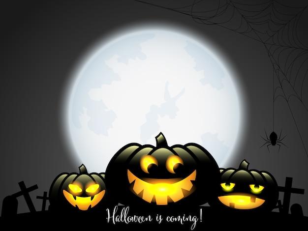 Halloween-vogelverschrikkers met halloween komt tekst.