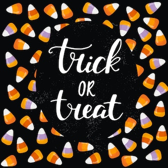Halloween-wenskaart van handgeschreven letters klassieke zin voor halloween
