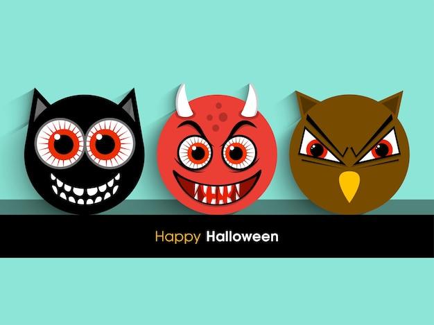 Halloween-wenskaart voor de viering van festival