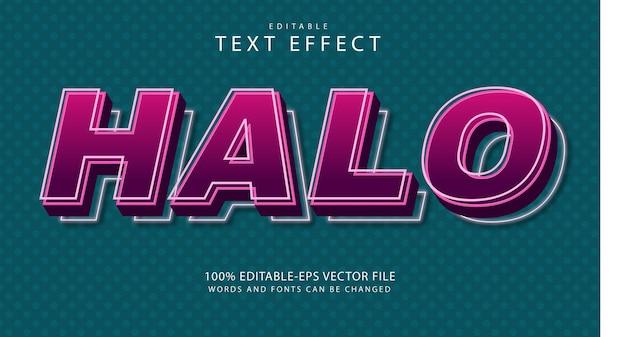 Halo bewerkbaar teksteffect