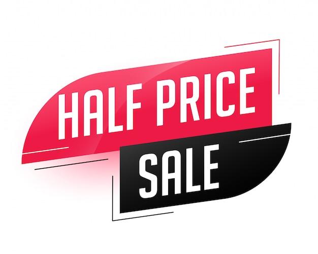 Halve prijs verkoop abstracte sjabloon