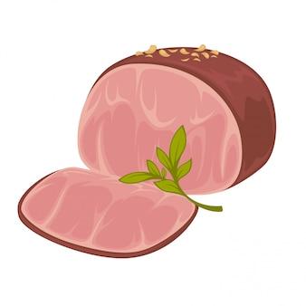 Ham - icoon van gerookt varkensvlees