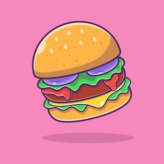 Hamburger cartoon afbeelding. hamburger