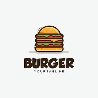 Hamburger concept ontwerpt illustratie