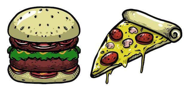 Hamburger en pizza pack design