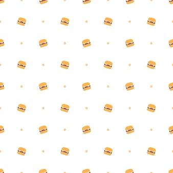 Hamburger fastfood naadloos patroon