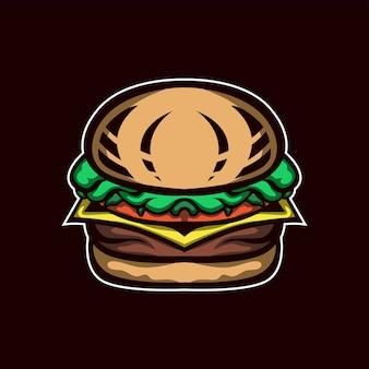 Hamburger illustratie