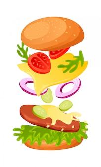 Hamburger ingrediënten