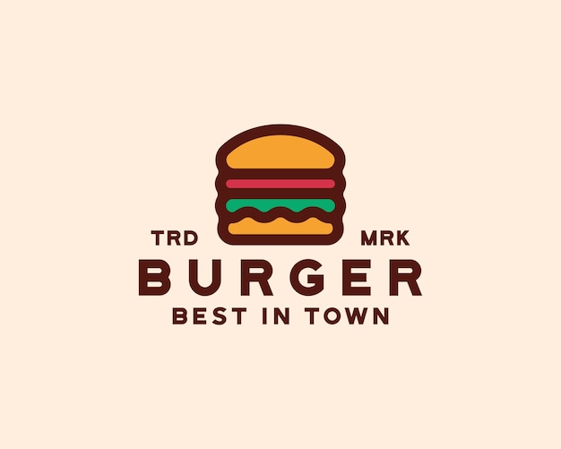 Hamburger logo sjabloon