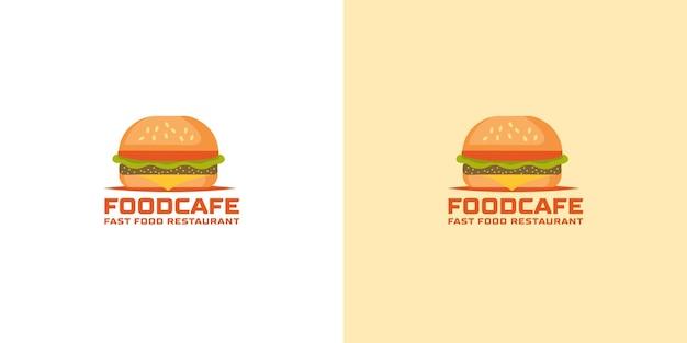 Hamburger logo vector sjabloon