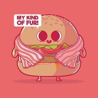 Hamburger met een speklaag