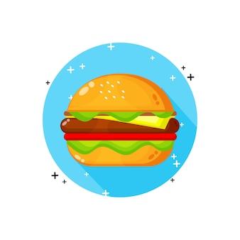 Hamburger pictogram ontwerp geïsoleerd op wit