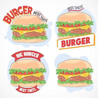 Hamburger snelle voedsel set
