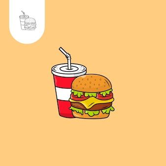 Hamburger vectorontwerp perfect gebruik voor webpatroonontwerppictogram ui ux enz