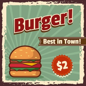 Hamburger vintage banner