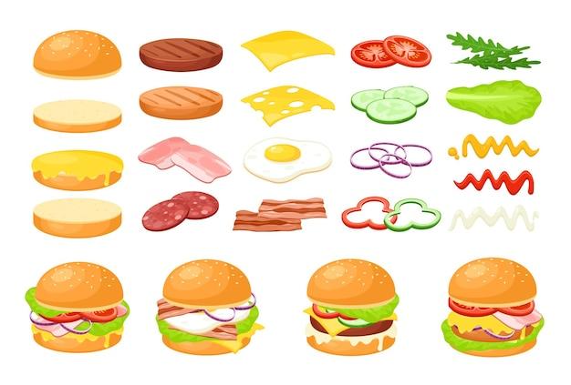 Hamburger voedselingrediënt. vers plakje groente