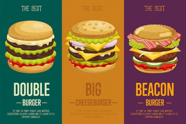 Hamburgers menusjabloon.