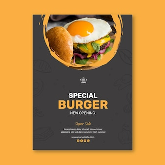 Hamburgers restaurant poster sjabloon