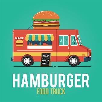 Hamburgervoedselwagen