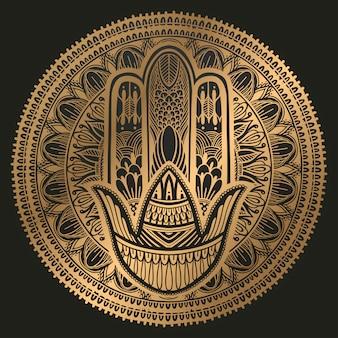 Hamsa talisman religie aziatisch