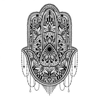 Hamsa talisman religie aziatisch.