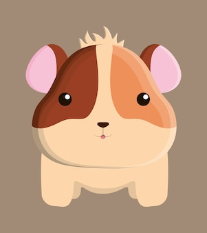 Hamster dierlijk cute little cartoon icoon