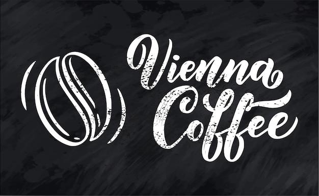 Hand belettering ellement in schetsstijl voor coffeeshop of café