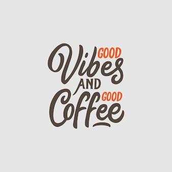 Hand belettering en typografie koffie citaten