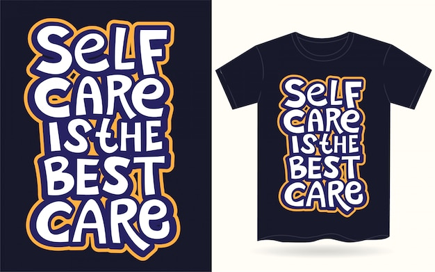 Hand belettering motivatie slogan voor t-shirt