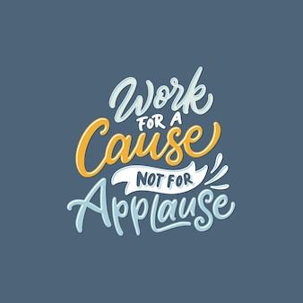 Hand belettering / typografie citaten voor motivationeel werk