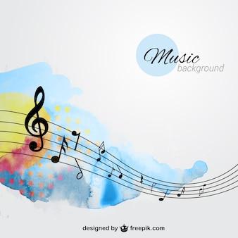 Hand beschilderde achtergrond muziek