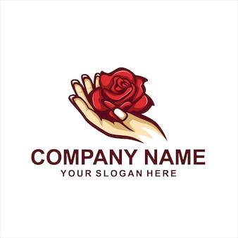 Hand bloem logo