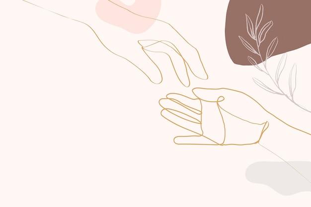 Hand & botanische lijn kunst illustratie vector