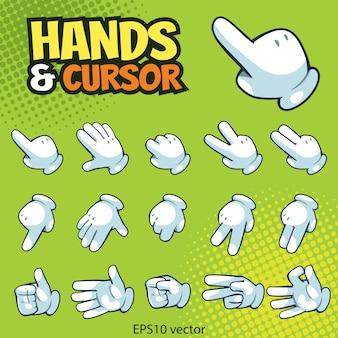 Hand en cursor