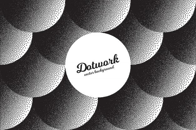 Hand gemaakt dotwork abstracte achtergrond