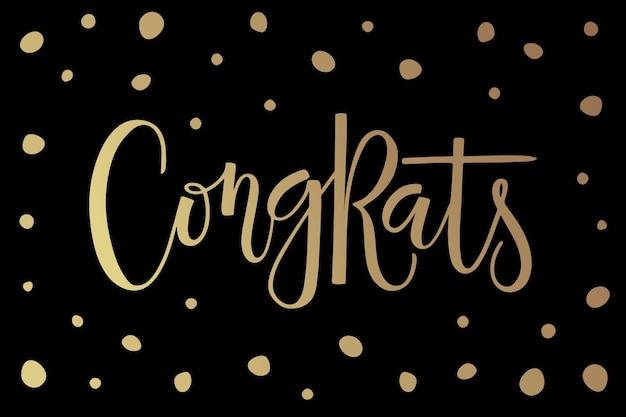 Hand geschetst gefeliciteerd tekst als badge en pictogram gefeliciteerd briefkaart kaart uitnodiging sjabloon voor spandoek