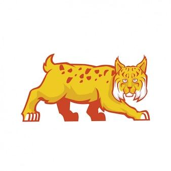 Hand geschilderde lynx ontwerp