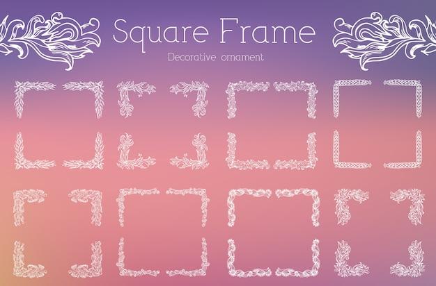 Hand getekend abstract achtergrond ornament frame illustratie concept.