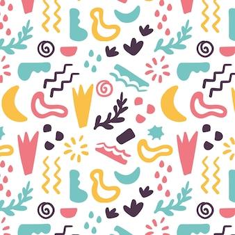 Hand getekend abstract element patroon