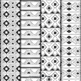 Hand getekend abstract patroon collectie