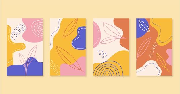 Hand getekend abstracte kunstcollectie