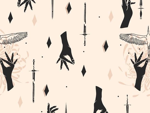 Hand getekend abstracte platte voorraad grafische pictogram illustratie