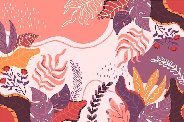 Hand getekend abstracte vormen achtergrond