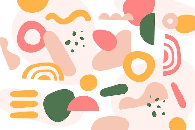 Hand getekend abstracte vormen achtergrond Gratis Vector