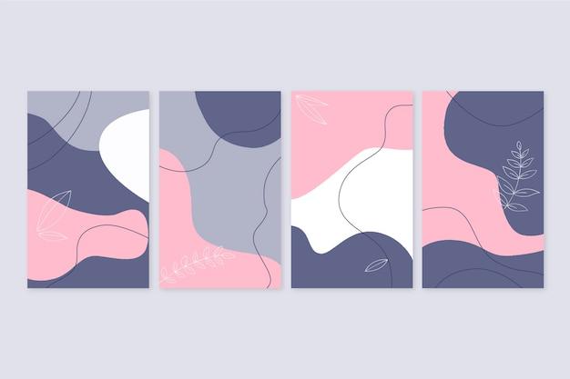 Hand getekend abstracte vormen omslagcollectie