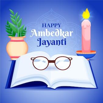 Hand getekend ambedkar jayanti illustratie