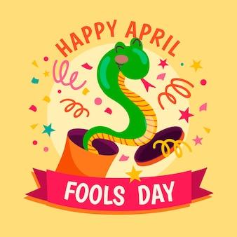 Hand getekend april dwazen dag concept