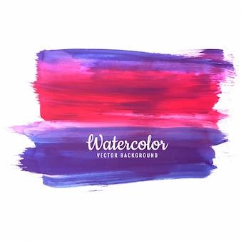 Hand getekend aquarel slag kleurrijke schaduw ontwerp