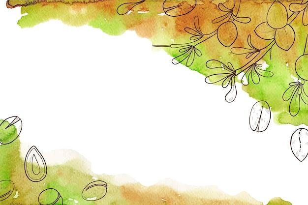 Hand getekend arganolie achtergrond