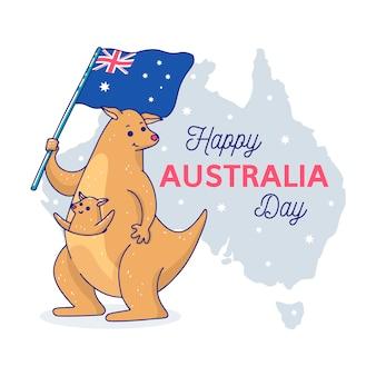 Hand getekend australië dag concept